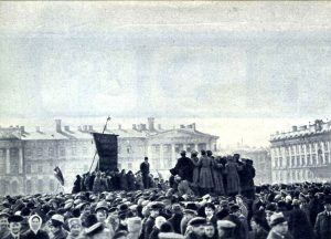 1 мая 1917 г. в Петрограде. Демонстрация рабочих и солдат на Марсовом поле