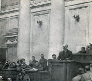 Выступление В.И. Ленина в Таврическом дворце. Апрель 1917 г.